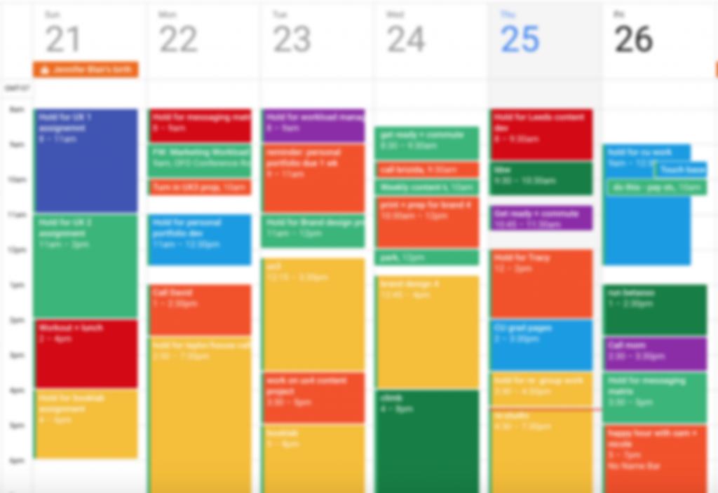 time blocking Cómo organizar tu trabajo en casa